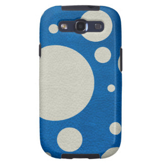 Stone Scattered Spots on Lapis Leather Texture Samsung Galaxy SIII Cover