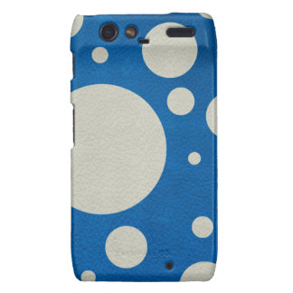 Stone Scattered Spots on Lapis Leather Texture Droid RAZR Cover
