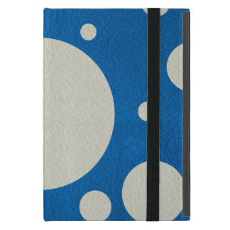Stone Scattered Spots on Lapis Leather Texture Cover For iPad Mini