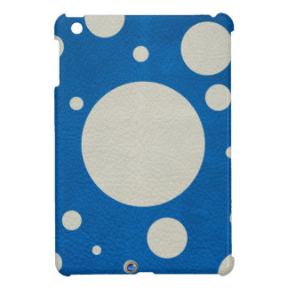 Stone Scattered Spots on Lapis Leather Texture Case For The iPad Mini