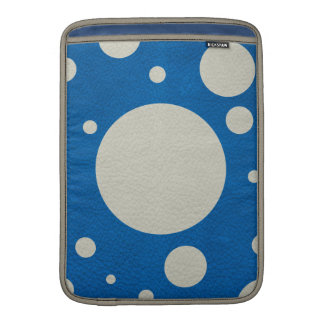 Stone Scattered Spots on Lapis Leather Texture MacBook Air Sleeve