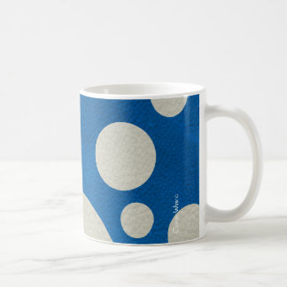Stone Scattered Spots on Lapis Leather Texture Classic White Coffee Mug