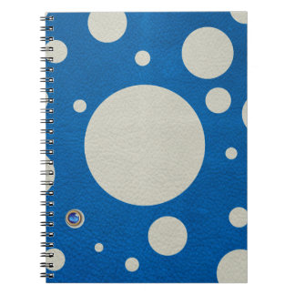 Stone Scattered Spots on Lapis Leather Texture Note Books