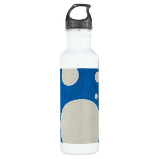 Stone Scattered Spots on Lapis Leather Texture 24oz Water Bottle