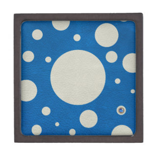 Stone Scattered Spots on Lapis Leather Texture Premium Keepsake Boxes