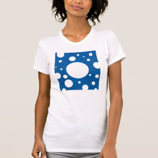 Stone Scattered Spots on Lapis Leather Texture Tee Shirt