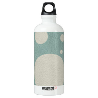 Stone Scattered Spots on Mint Leather Texture Aluminum Water Bottle