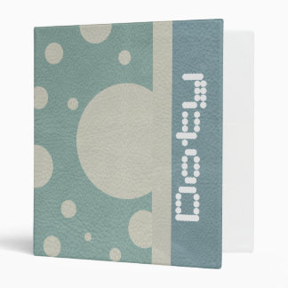 Stone Scattered Spots on Mint Leather Texture Binder