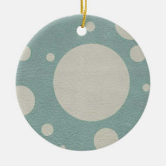 Stone Scattered Spots on Mint Leather Texture Ceramic Ornament