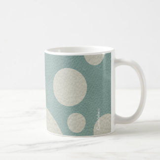 Stone Scattered Spots on Mint Leather Texture Coffee Mug