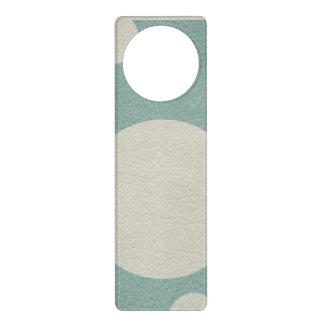 Stone Scattered Spots on Mint Leather Texture Door Knob Hanger