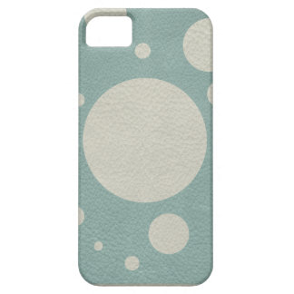 Stone Scattered Spots on Mint Leather Texture iPhone SE/5/5s Case