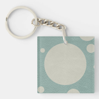 Stone Scattered Spots on Mint Leather Texture Keychain