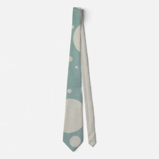 Stone Scattered Spots on Mint Leather Texture Neck Tie