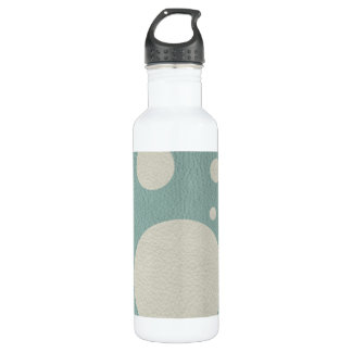 Stone Scattered Spots on Mint Leather Texture Stainless Steel Water Bottle