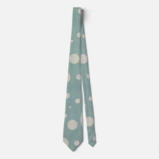 Stone Scattered Spots on Mint Leather Texture Tie