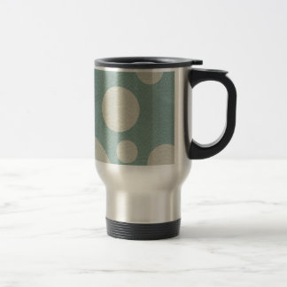 Stone Scattered Spots on Mint Leather Texture Travel Mug