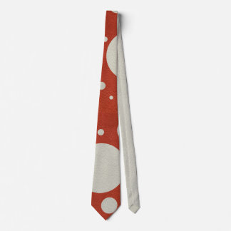 Stone Scattered Spots on Red Leather Texture Tie