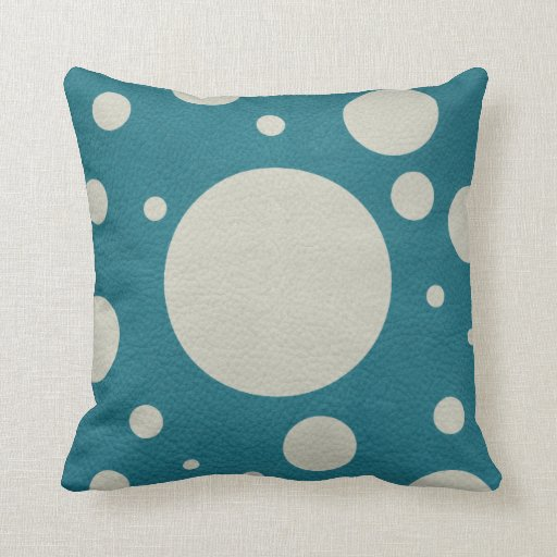 Stone Scattered Spots on Till Leather Texture Pillows