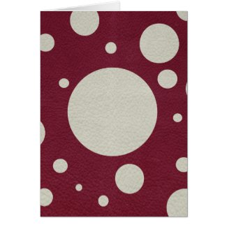 Stone Scattered Spots on Wine leather Texture Greeting Cards