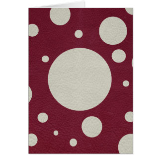 Stone Scattered Spots on Wine leather Texture Greeting Card