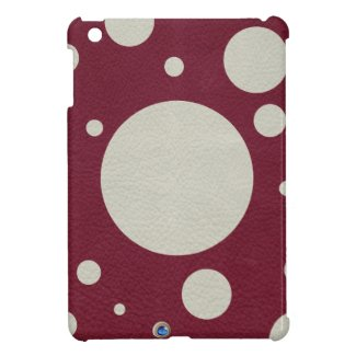 Stone Scattered Spots on Wine leather Texture iPad Mini Covers