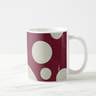 Stone Scattered Spots on Wine Leather Texture Classic White Coffee Mug