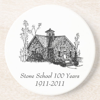 Stone School 100 Years Coaster