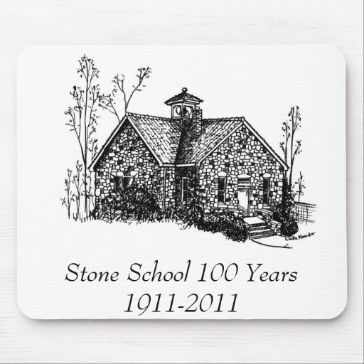 Stone School 100 Years Mouse Pad