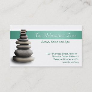 Sculpture business cards zazzle stone sculpture health spa business cards colourmoves