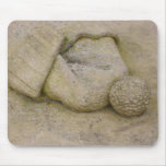 Stone Sculpture of a Bobble Hat Mouse Pad