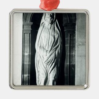 Stone sculpture of John Donne in his shroud Metal Ornament
