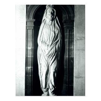 Stone sculpture of John Donne in his shroud Postcard
