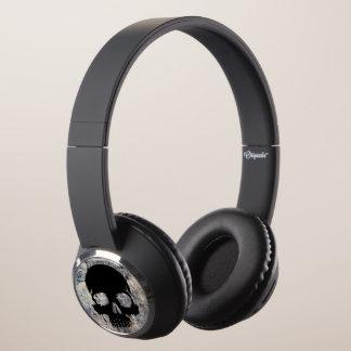 Stone skull headphones