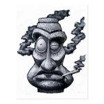Stone Smoker Tiki Man Post Cards