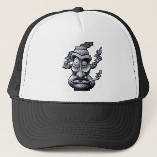 Stone Smoker Tiki Man Trucker Hat