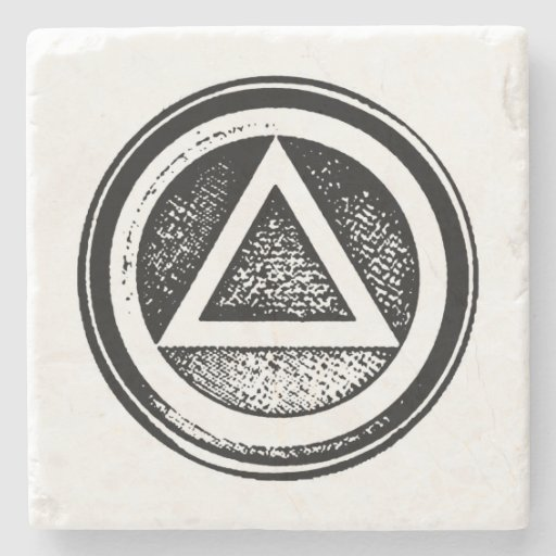 Stone Sober Oval Coaster Recovery Sobriety AA Stone Beverage Coaster