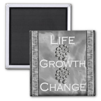 Stone Spiral Life Growth Change 2 Inch Square Magnet