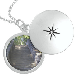 Stone Stairs Sterling Silver Necklace