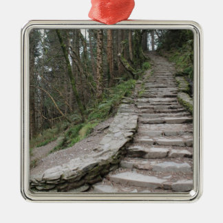Stone Stairway at Torc Waterfall, Ireland Metal Ornament