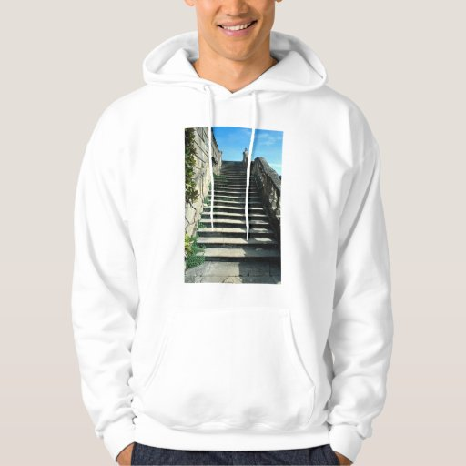 Stone stairway, Clivedon House, near Maidenhead, B Hooded Pullover