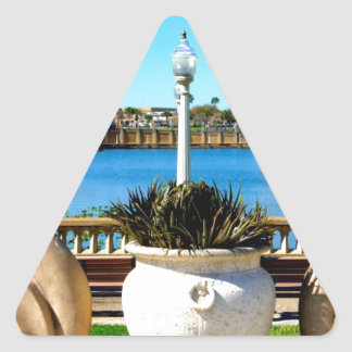 Stone Statue Triangle Sticker