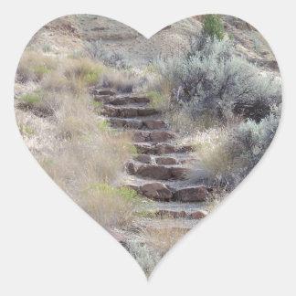 Stone Steps Heart Sticker