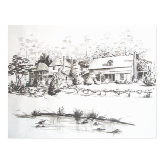 Stone Store, Kemp House and Caretakers Home Postcard