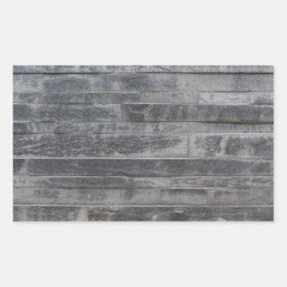 Stone structure rectangular sticker