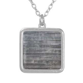 Stone structure silver plated necklace