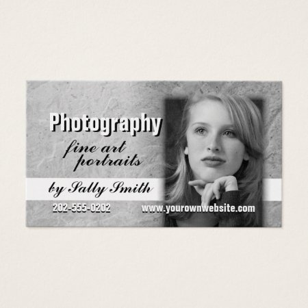 Stone Texture Business Card Template Actor Profile Card