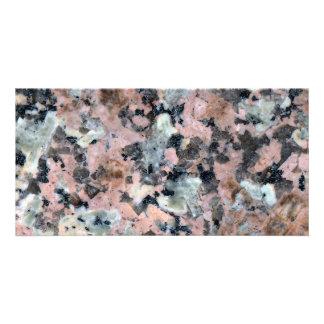 Stone Texture: Dark Granite Photo Greeting Card