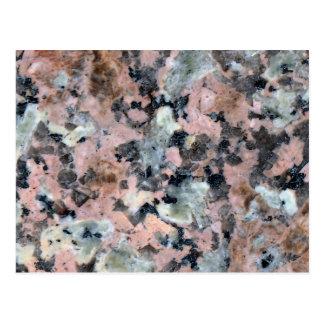 Stone Texture: Dark Granite Postcard