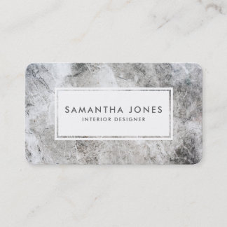 Stone Texture Simple Modern Interior Designer Business Card